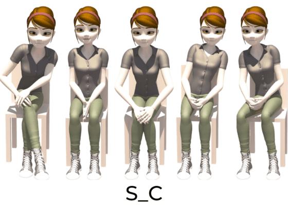 Les positions sur la chaise : S_C